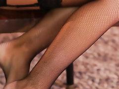 Ebony, Latina, Stockings, Teen