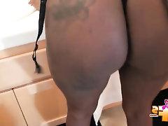 Babe, Big Ass, Ebony, Stockings