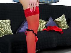 Babe, Ebony, Panties, Stockings, Toys